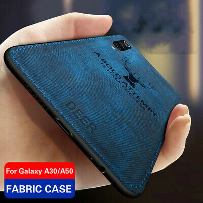 Shockproof Fabric Soft Silicone Bumper Case Cover For Samsung Galaxy A50 A40 A70