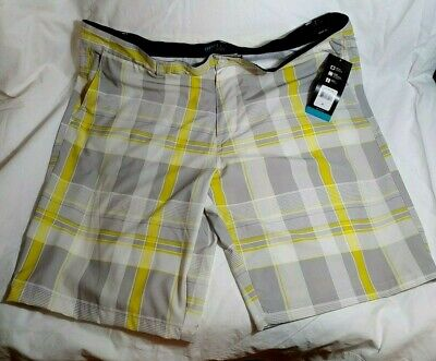 ca36bd7dc8 OP OPFLEX Shorts Mens Size 42 4 Way Stretch Ocean Pacific Arctic White  Yellow