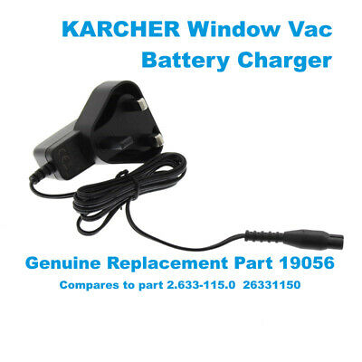 KARCHER WV50 WV55 WV60 Window Vacuum Battery Charger Plug Power Cable Adapter