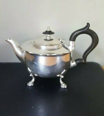 Vintage Victorian Silver Plate Mappin & Webb Teapot on Four Feet