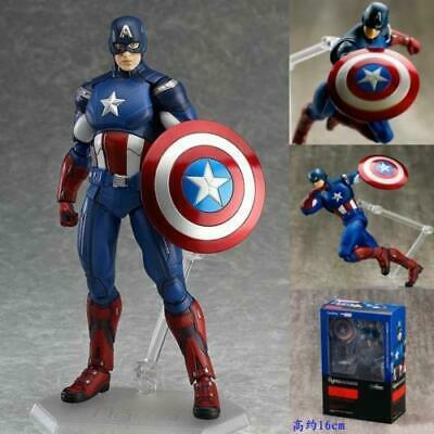 Figma 226 Marvel's The Avengers Captain America Figma Anime Action Figure Toy