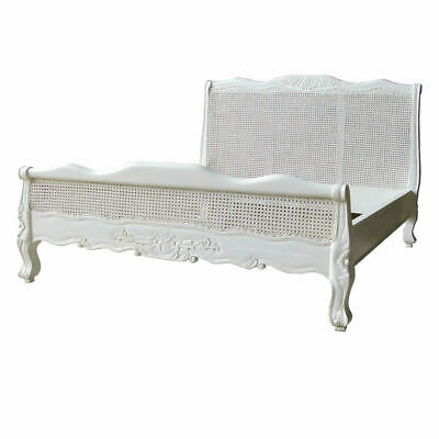 French White Low Foot Board Bed - Super King Size - 6ft - New - In Stock