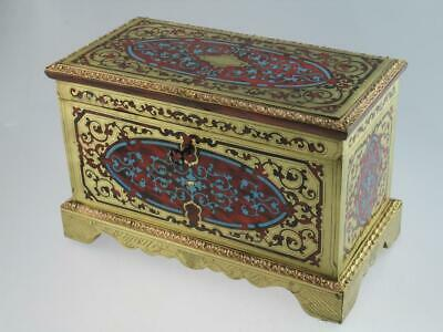 Antique 19th Century Faux Tortoiseshell Boulle Tea Caddy Circa 1820