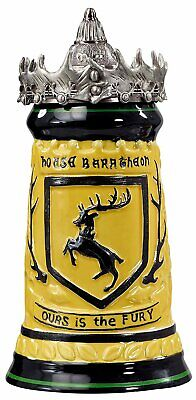 Game of Thrones Baratheon Stein Ceramic with Pewter Baratheon Crown Top