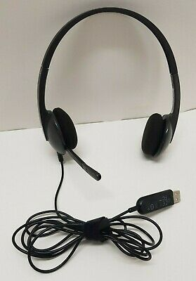 53270a4aef3 Logitech A-00044 Stereo Noise-canceling USB Headset Headphones Earphone  With Mic