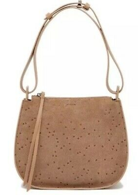 6b11e832ac5 ALL SAINTS ECHO Star Bag Mini Suede Hobo Bag Color: Grey - $85.00 ...