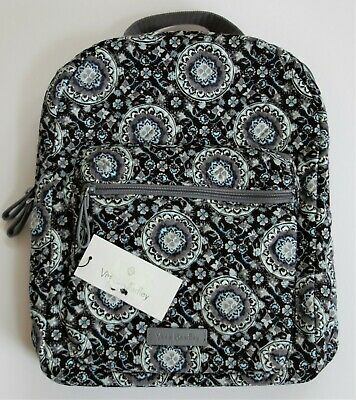 783a9ab51 Vera Bradley Iconic Leighton Small Backpack Charcoal Medallion Brand New w  Tag