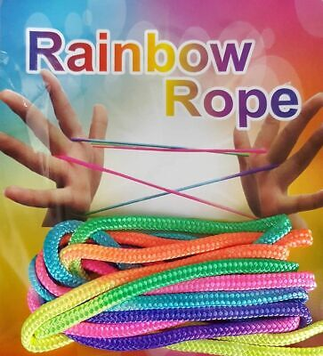 CHEAP! ZTRINGZ RAINBOW ROPE GAME Finger Skill Game Kids Childrens Skill Game Toy