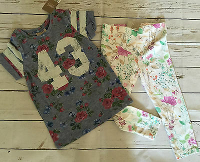 BNWT NEXT Size 4-5 Years (up to 110cm) Floral Print Top&Leggings Outfit * Rare*
