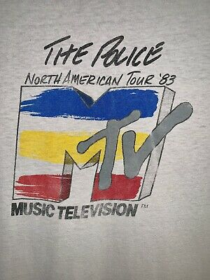 Vintage THE POLICE 1983 MTV STAFF NORTH AMERICAN TOUR promo concert t-shirt S