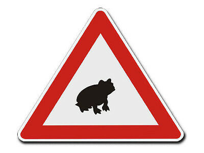 Triangular Traffic Sign with Motif Frog S4339