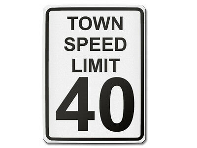 Traffic Sign USA Town Speed Limit 40 S5703