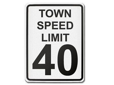 Signalisation USA - Town Speed Limite 40 S5703
