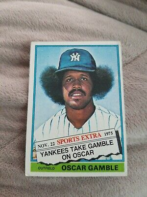 1976 Topps Baseball Traded Oscar Gamble #74T - Yankees ~ L@@k!!