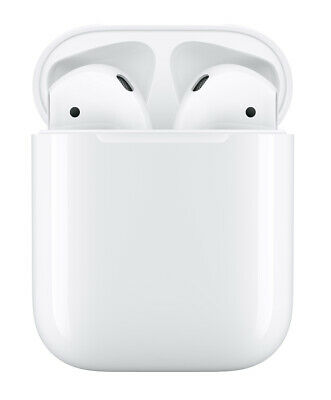 Apple AirPods 2nd Generation with Charging Case - White Factory Sealed MV7N2AM/A