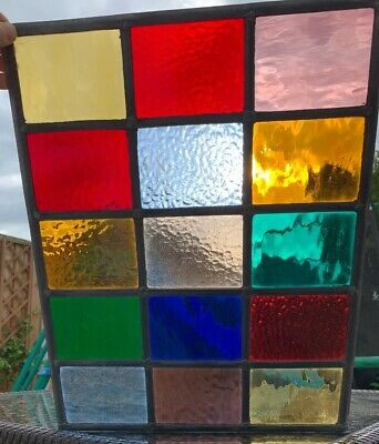 Stained Glass Colourful Leaded Window