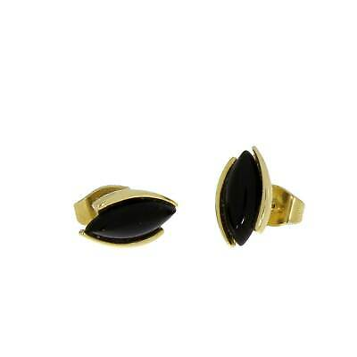 Kettler Studs 375 Yellow Gold with Onyx 002/30/141096500N