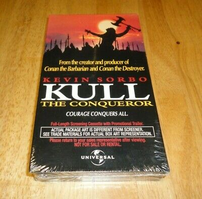 Kull the Conqueror (VHS, 1997) Fantasy Rare Screener Demo Promo Brand New Sealed