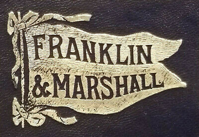 FRANKLIN & MARSHALL Pennant TOBACCO Cigarette LEATHER University College CARD