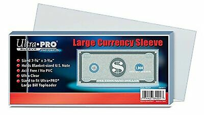 Ultra Pro Currency Storage Sleeves (100 Count Pack) Regular Size Clear