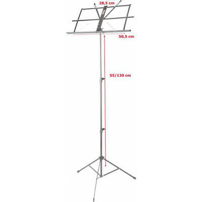 Stagg MUS-A25 BK 3-Section Music Stand
