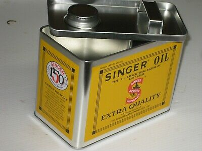 An Old Singer Sewing Machine Oil Tin , A1 Condition Over 25 Years Old