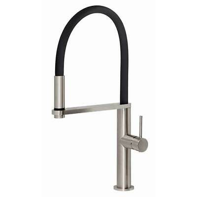 Gooseneck Sink Mixer Flexible Hose Brushed Nickle Kitchen Tap Kitchen Phoenix BL
