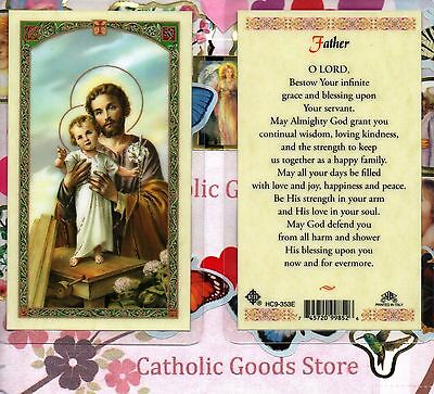 Father Laminiert Holy Card