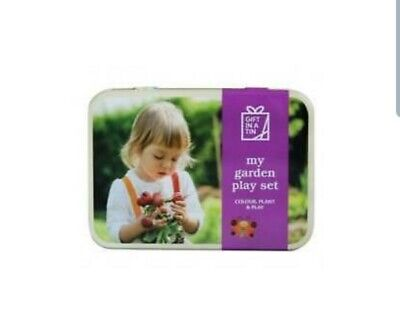 Garden Play Set in a Tin. Makes a great gift for kids.