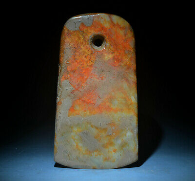 """Excellent Chinese Ancient Jade Carved Celt Chisel Ax Axe For Ceremony 5.51"""""""