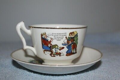 Vintage Fine China Childs Nursery Rhyme Cup & Saucer Set