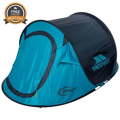 Trespass Swift2 Waterproof 2 Man Pop Up Camping Tent Free Next Day Delivery