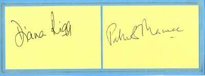 The Avengers - Diana Rigg and Patrick Macnee - Hand Signed Cards.