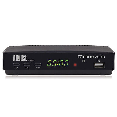 August DVB400 HD Freeview Set Top Box 1080p TV Recorder Multimedia Player