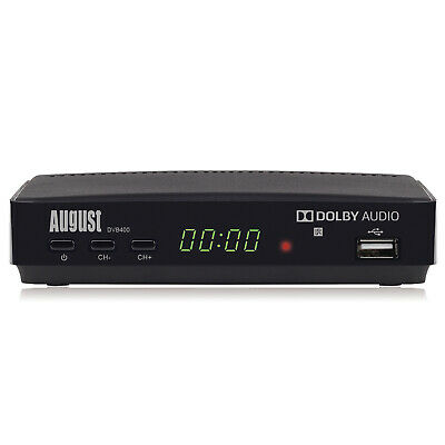August DVB400 - HD Freeview Set Top Box - 1080p TV Recorder