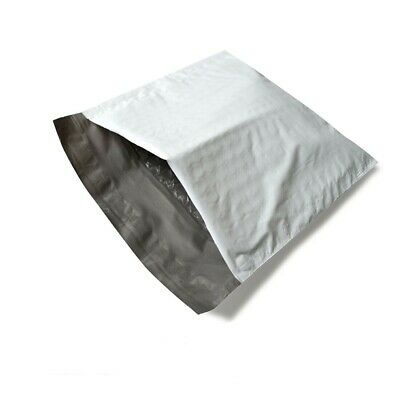"2500 Bags 5"" x 10"" #00 Poly Bubble Mailers Shipping Padded Envelopes White/Grey"