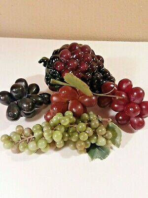 Vintage Murano Art Glass and Rubber Grapes Lot