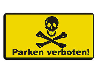 Warning Sign as Park Prohibition Sign - Skull with Customized Wunschtex S3694