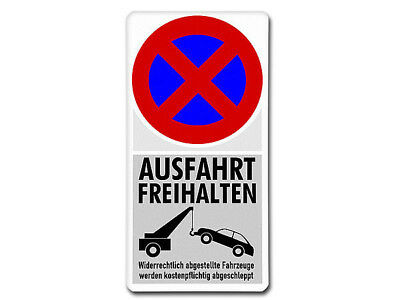 Metal Sign Stopping - Keep Exit Clear S5725