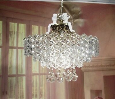 Mid Century Modern Chandelier Ring Hanging Glass Mermaid Pendent Lamp Ceiling