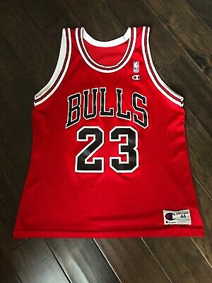 52f0f346450 Vintage Made In The USA Champion Michael Jordan Chicago Bulls Jersey Sz 44