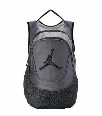 be536cbbc12 Nike Air Jordan 23 Backpack Grey Black Laptop School Bag Adult Mens New