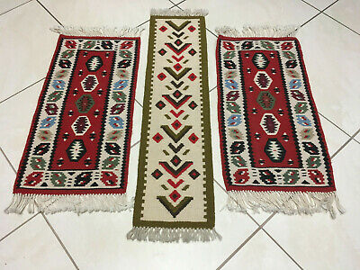 Set Orientteppiche  Kelim Wolle top old rug alfombra tappeto vieux tapis