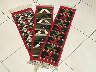 Orientteppiche 3er Set Kelim Wolle top old rug alfombra tappeto vieux tapis