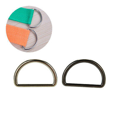 10X Metal Sliver D Ring D-rings Purse Ring Buckles For Webbing Strapping 25mm DP