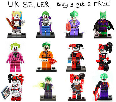 Joker Harley Quinn Minifigure Batman Suicide Squad DC Dark Knight Mini Figure
