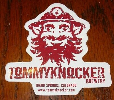 Reclamevoorwerpen TOMMYKNOCKER BREWERY CIRCLE Gold Circle LOGO STICKER decal craft beer brewing Papieren reclame