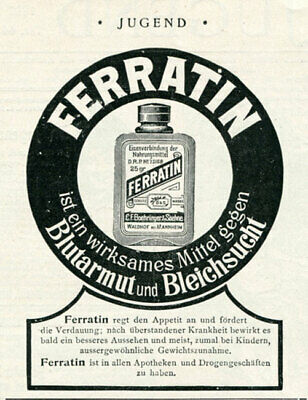 FERRATIN Remedy Vintage magazine Ad 1897