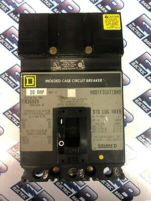 "FA36020 Square D Gray Label Circuit Breaker 3 Pole 20 Amp 600V /""2 YEAR WARRANTY/"""