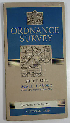 1950 Old OS Ordnance Survey 1:25000 First Series Prov Map TL 91 Tollesbury 52/91